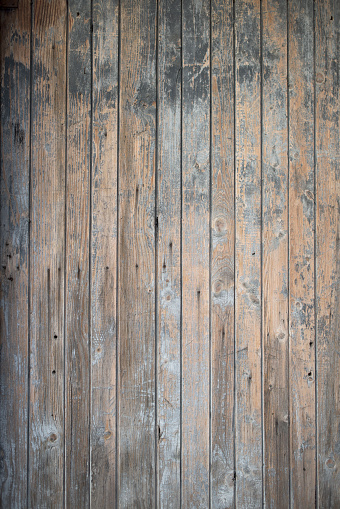 Part of an old blue wooden door