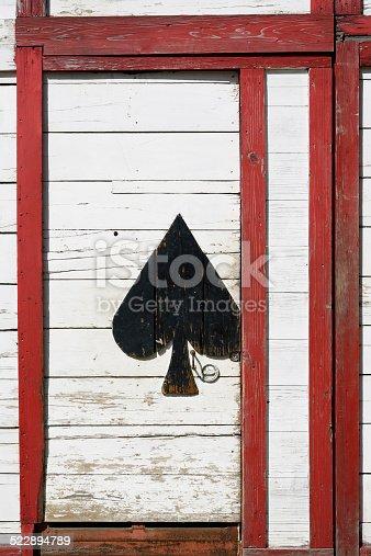 894368086 istock photo Old wooden door 522894789