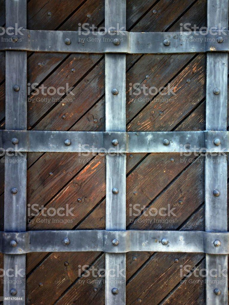 Antigua puerta de madera. - foto de stock