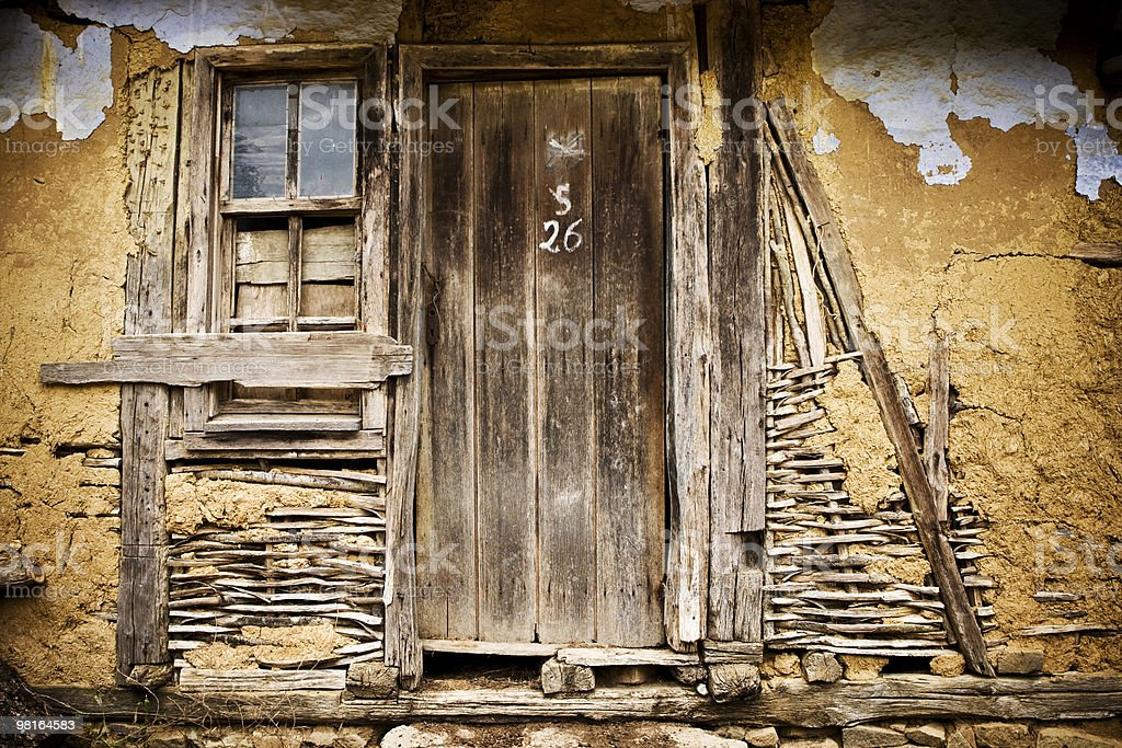 Old wooden door royalty-free stock photo