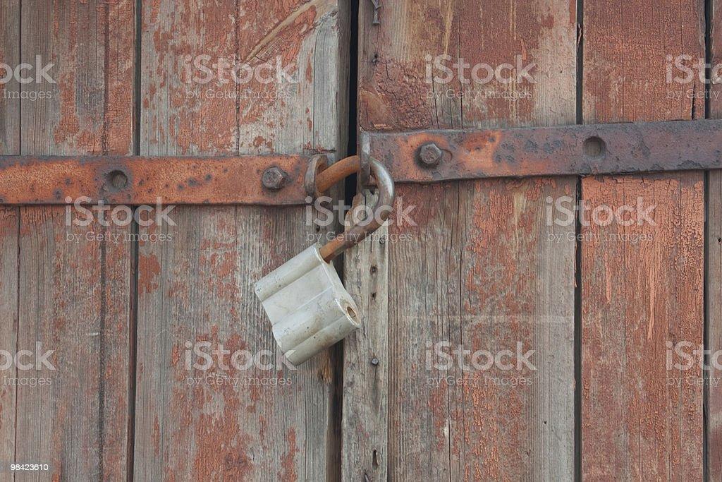 Vecchia porta in legno foto stock royalty-free