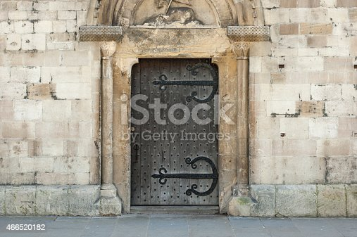 istock Old Wooden Doorway 466520182
