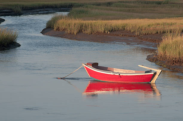 Cape Cod Rowboat New England Dory Stock Photos, Pictures & Royalty