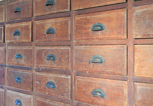 668340340 istock photo Old wooden drawer. 947704912