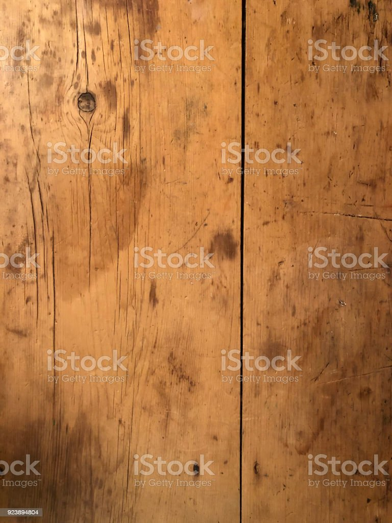 Old wooden dresser top stock photo