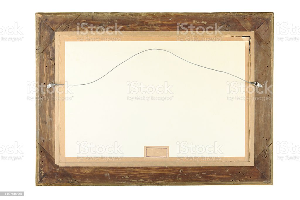 Old Wooden emty Frame CLIPPING PATH stock photo
