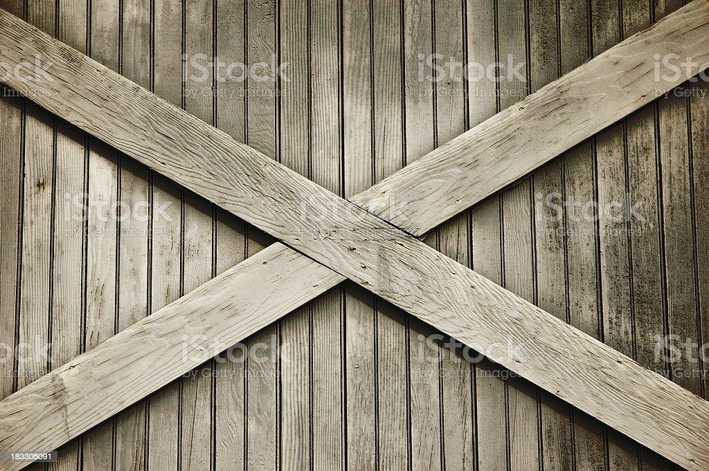 Old Wooden Factory Door - X royalty-free stock photo