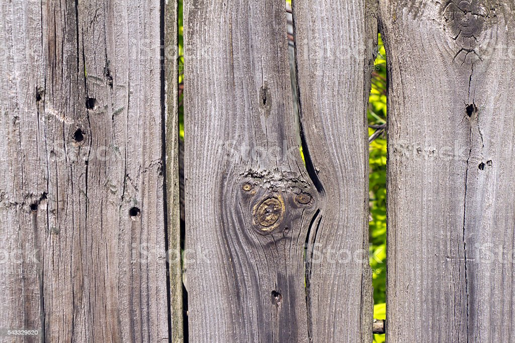 Old wooden fence grey color stock photo