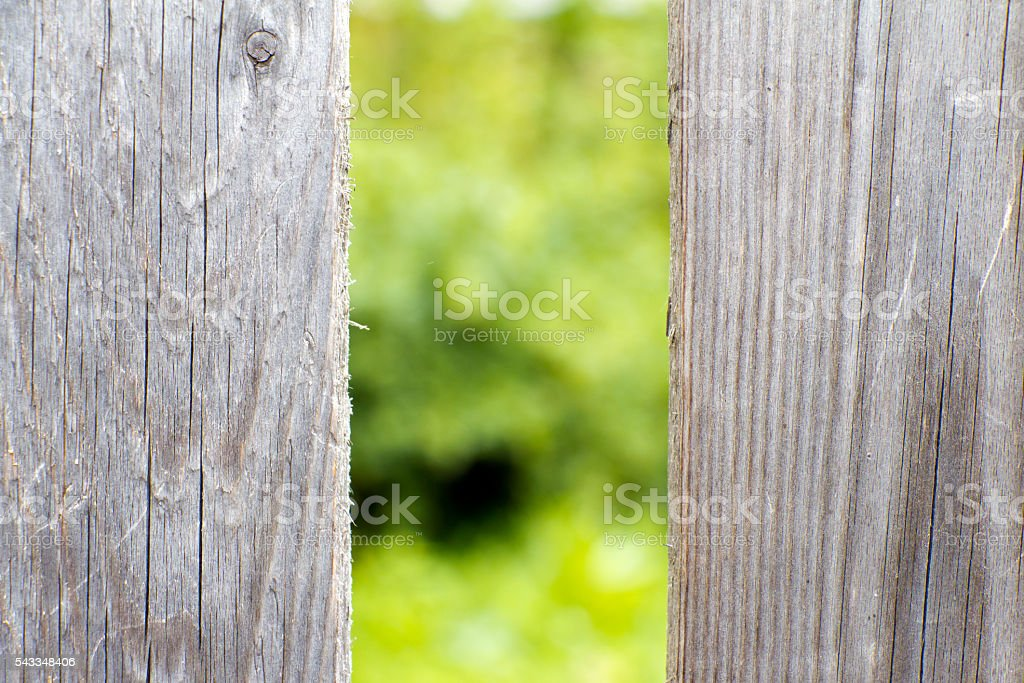 Old wooden fence grey color. stock photo