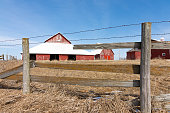 istock Old wooden fence line 1131460351
