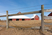 istock Old wooden fence line 1131460517