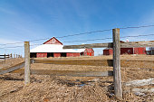 istock Old wooden fence line 1131460630