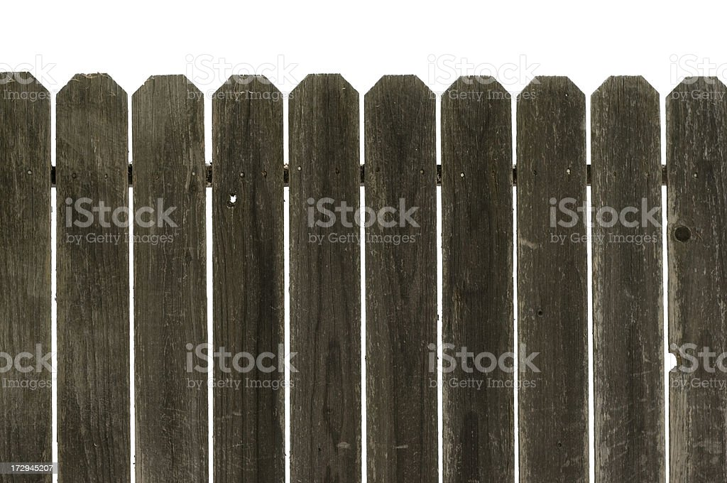 Old Wooden Fence royalty-free stock photo