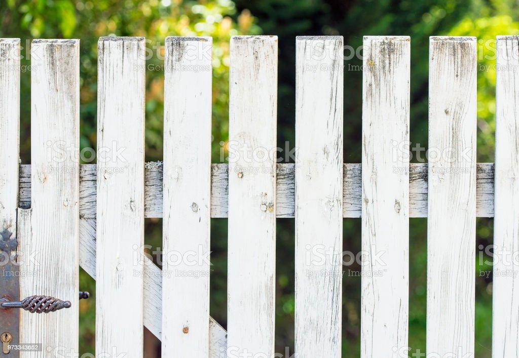 Photo libre de droit de Ancien En Bois Clôtures Planches Blancs ...