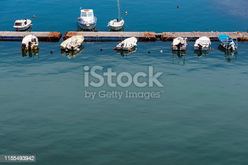 Old wooden fishing boats in Chios Island, Greece.Old wooden fishing boat in Chios Island, Greece.