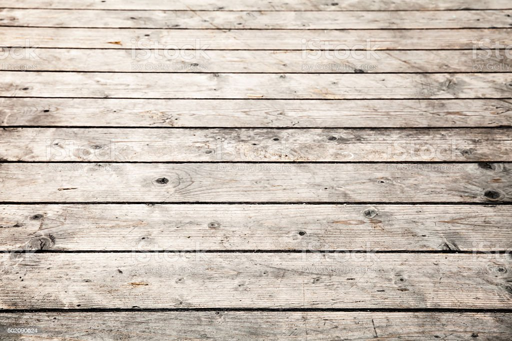 Old wooden floor. Background photo with selective focus