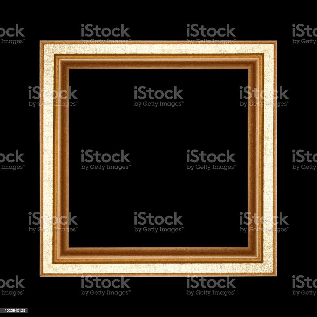 Alten Holzrahmen auf schwarzem Hintergrund isoliert – Foto