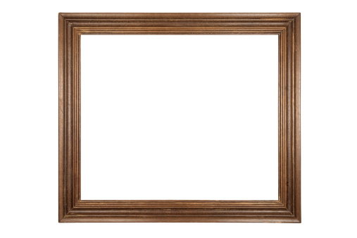 Old Wooden Frame - Isolated On White With Clipping Path