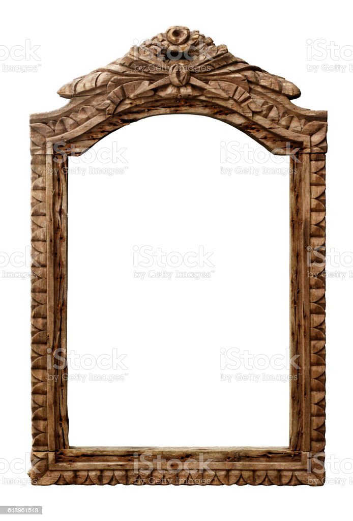 Old wooden frame stock photo