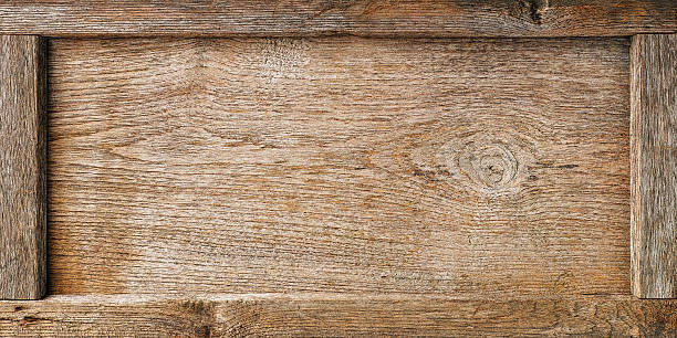 Ancien cadre en bois, fond de conseil d'administration. - Photo