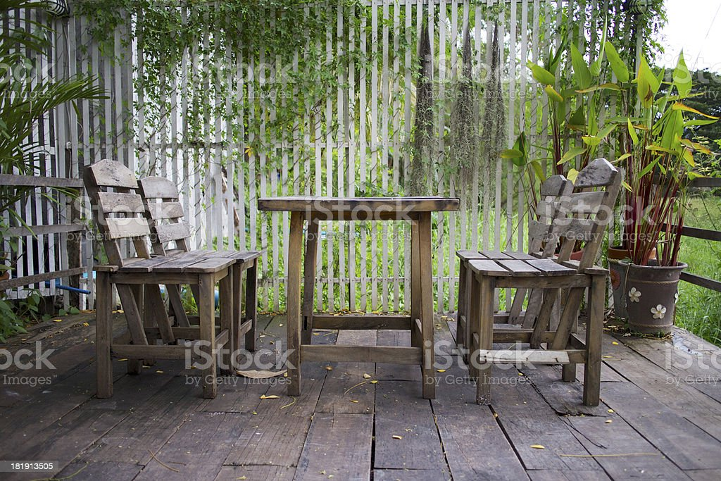 Old wooden furniture. royalty-free stock photo