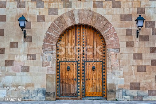 istock Old wooden gate 1182307187