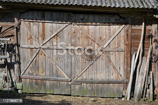 Shot on the old wooden gate to the barn.