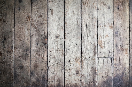 Old wooden gray dark plank wall texture background