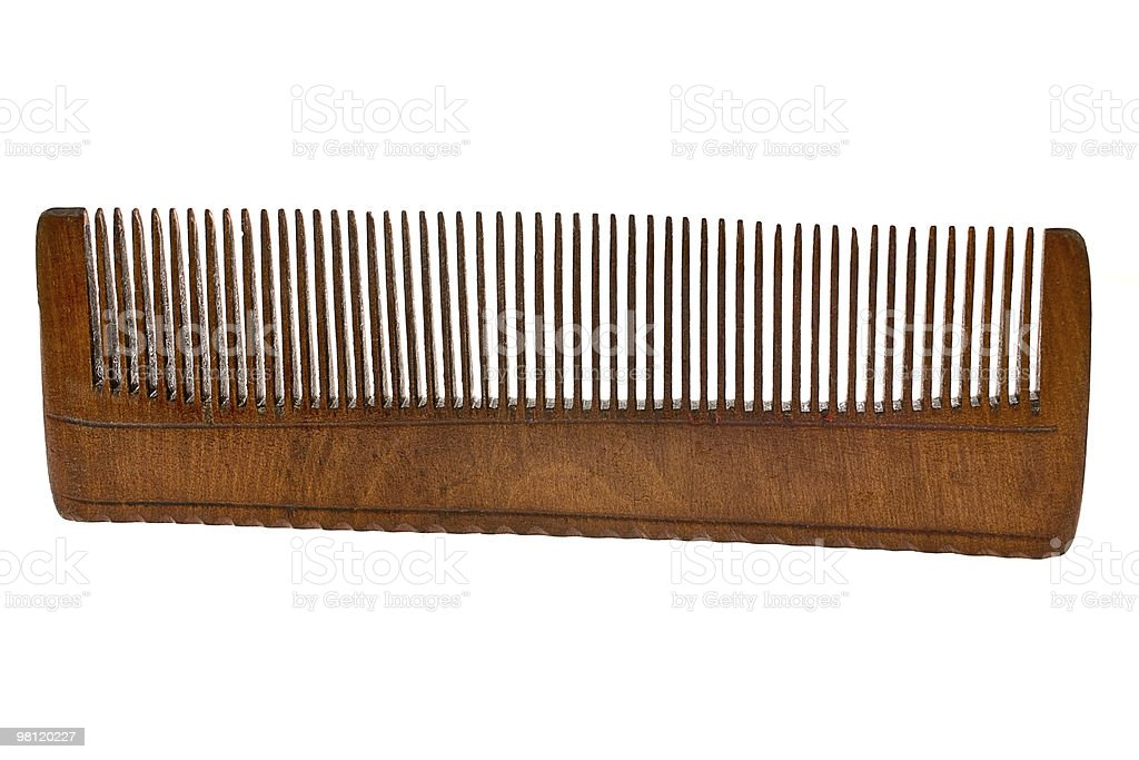 Old Wooden hairbrush royalty-free stock photo