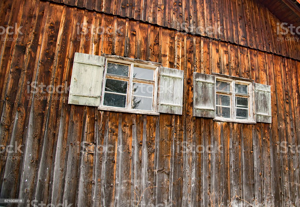 Old wooden haus in Bavaria stock photo