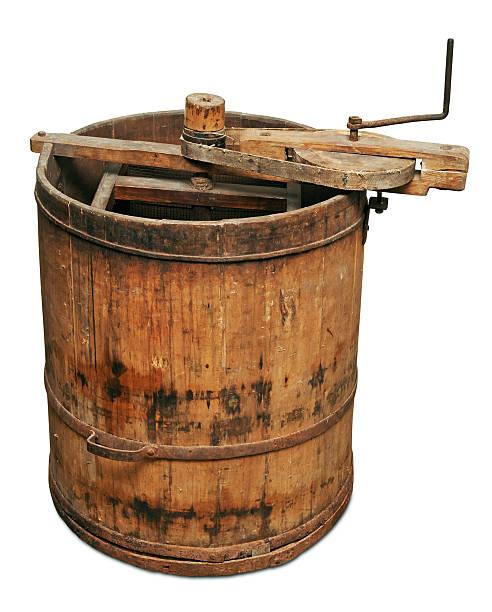 Alte hölzerne honey Extraktor – Foto