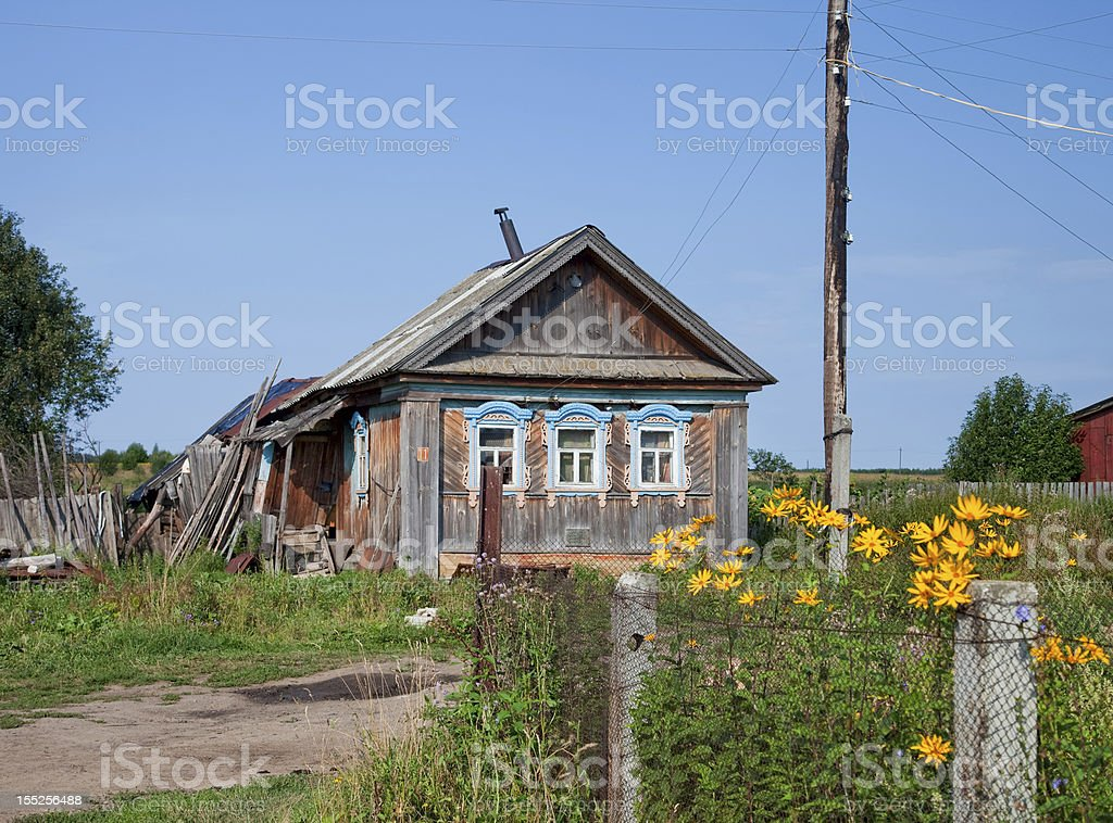 Old wooden house in Russia royalty-free stock photo