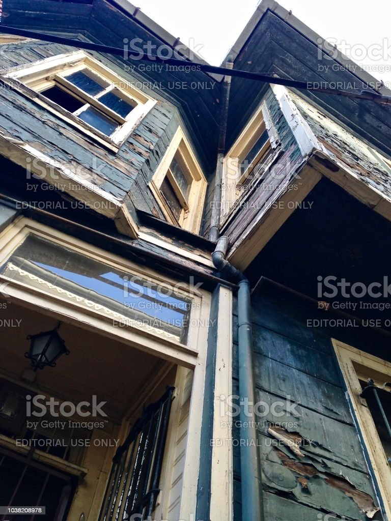 Old Wooden House - Istanbul stock photo