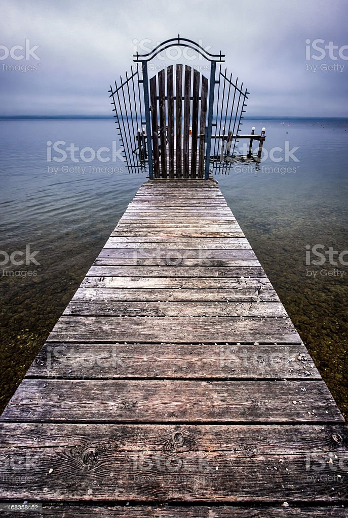 old wooden jetty royalty-free stock photo