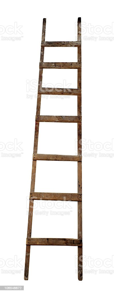 Old wooden ladder royalty-free stock photo