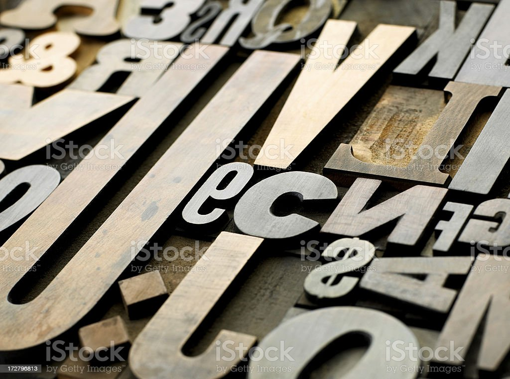 Old Wooden Letters Stock Photo Download Image Now Istock