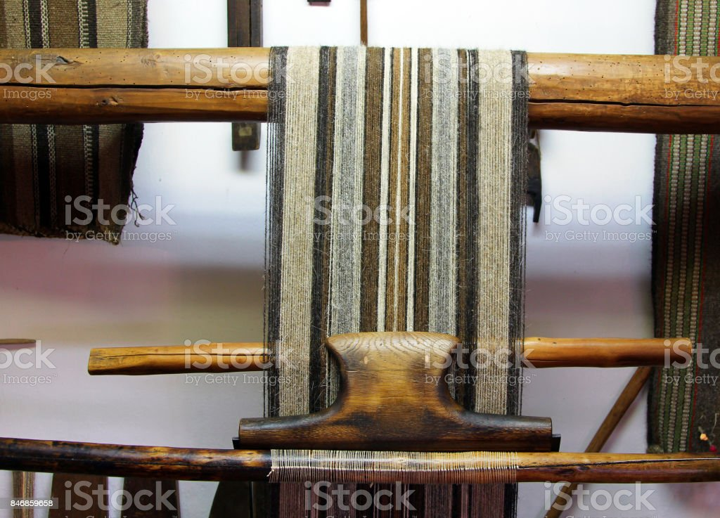 Old wooden loom, Etar, Bulgaria stock photo