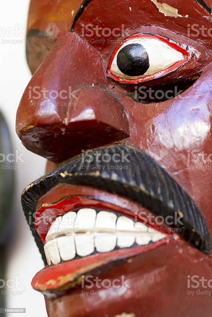 Old Wooden Mask royalty-free stock photo