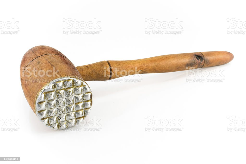 Old Wooden Meat Tenderizer Stock Photo More Pictures Of Appliance