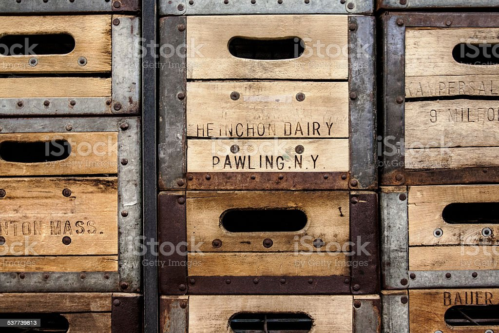 Old Wooden Milk Crates Stock Photo Download Image Now Istock