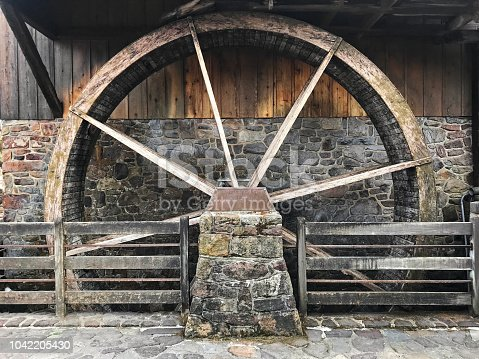 Old wooden mill
