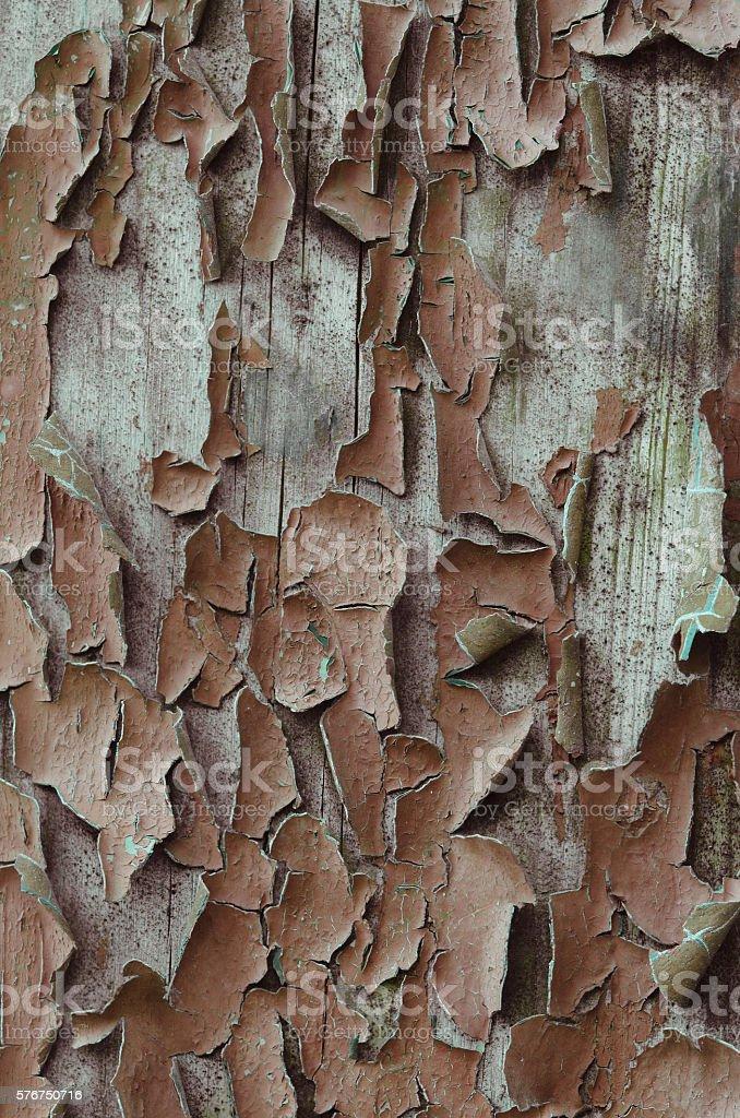 Alte Holz Rustikal Hintergrund Gemalt Farbepeeling Stockfoto Und