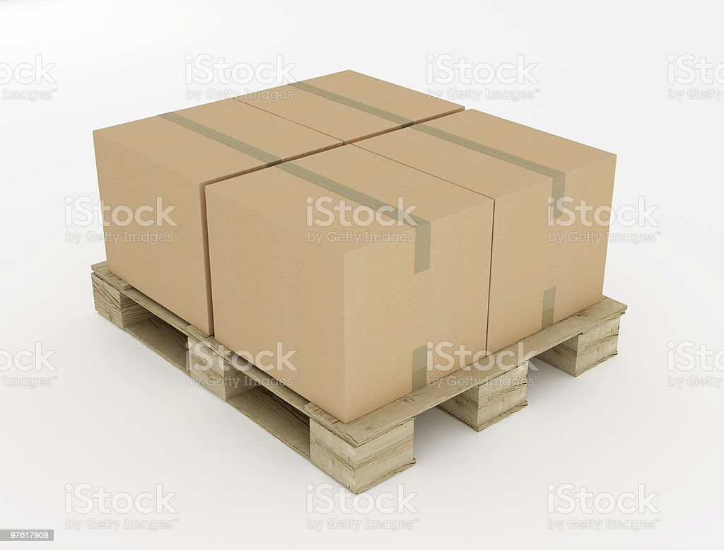 old wooden pallets royalty-free stock photo
