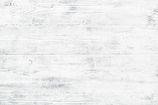 alten holzbrett textur mit risse und kratzer white & grau vintage board. - angeschlagen stock-fotos und bilder