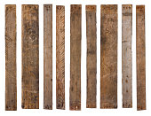 istock Old wooden planks isolated 1082044610
