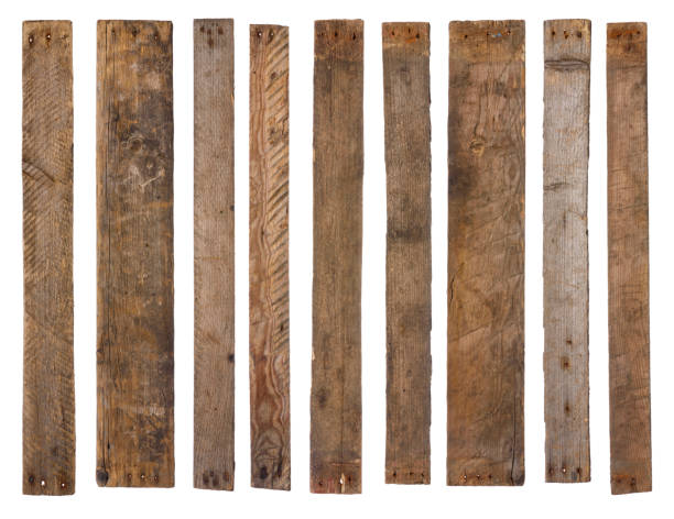 Old wooden planks isolated