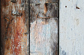 istock Old wooden planks 506758984