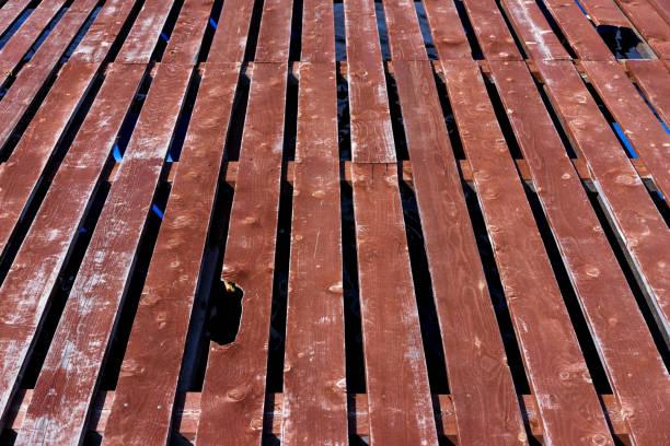 Alte Holzplattform – Foto
