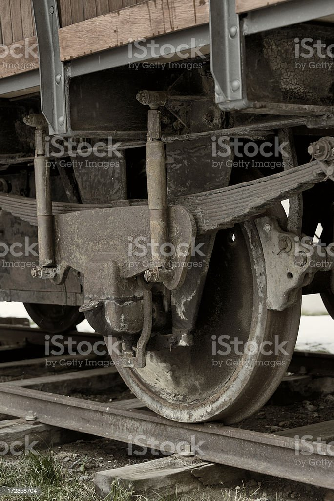 Old Wooden Railway Wagon royalty-free stock photo