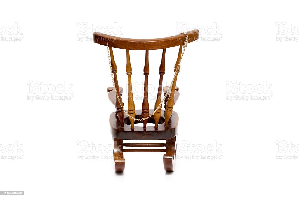 Groovy Old Wooden Rocking Chair On White Background Stock Photo Ncnpc Chair Design For Home Ncnpcorg